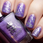 Purple Nail Art For #CBBNov With A England Angel Grace
