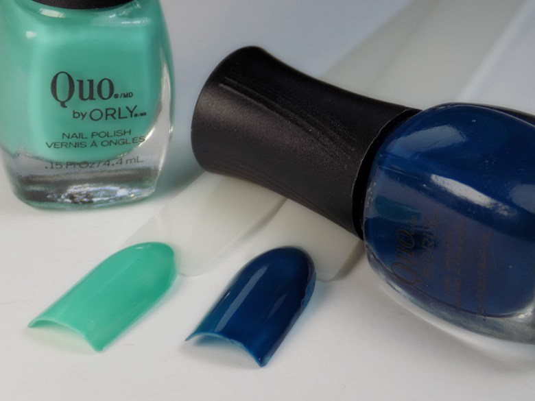 Quo by Orly Perfectly Painted Nail Polish Collection - Blues Bottles and Swatches