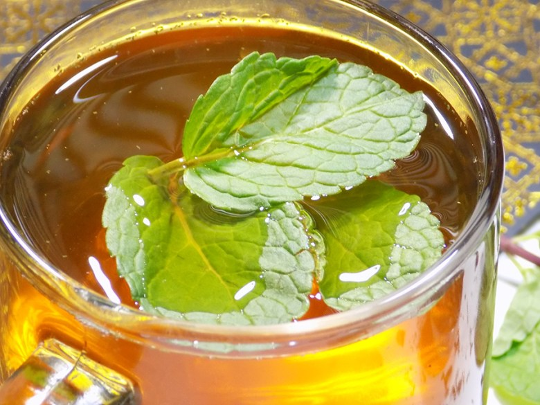 Bulk Barn Moroccan Mint Tea - Cup with Mint Leaves