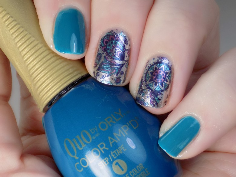 Born pretty BP W19 Turquoise and Purple Water Decals with Quo Best Dressed and Rooftop Lounge