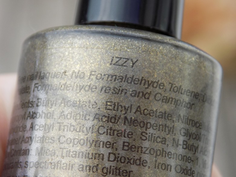 Paint It Pretty Izzy Custom Thermal Polish Bottle Name
