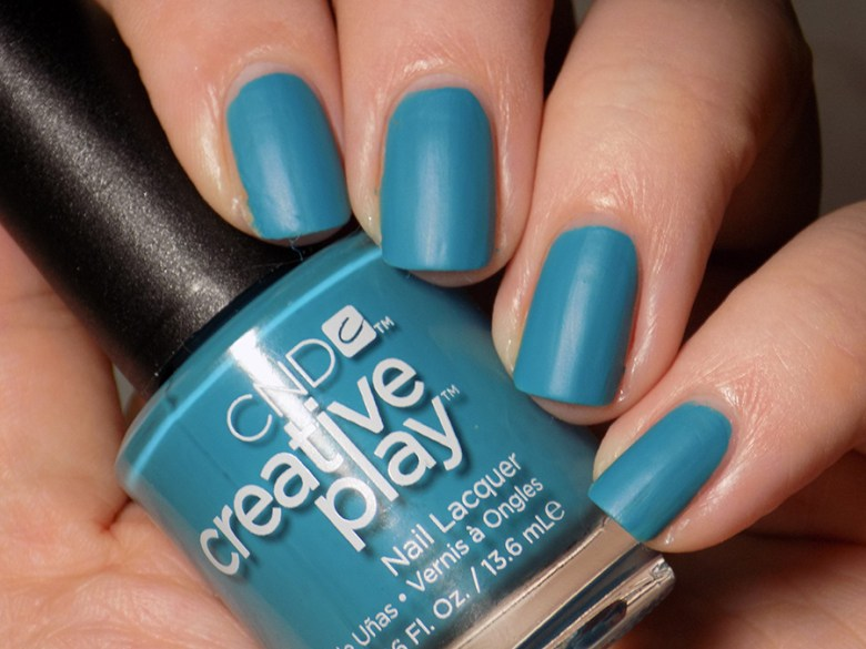 CND Creative Play Teal The Wee Hours from Sunset Bash Collection - Leather Effect without Topcoat