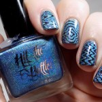 Hit The Bottle Hololulu Blue Stamping Polish Swatches & Review