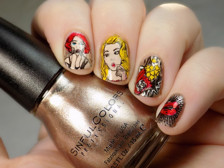 Swatch BP-L062 Stamping Plate - Born Pretty Comic Book Stamping Plate Nail Swatch