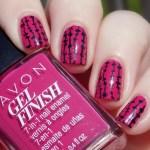 Avon Gel Finish Rose Noir Nail Polish Swatches & Review