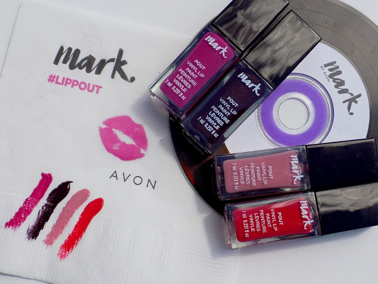 Mark by Avon Lip Pout Vinyl Swatches and Review
