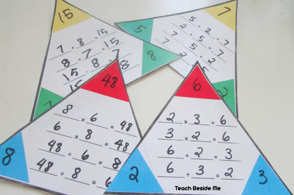 Math Fact Families Printable