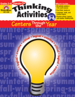 Book cover of thinking activities throughout the year