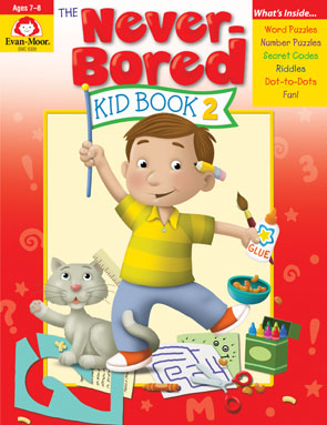Never Bored Kids activity book cover