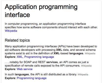Web Internet Application Programming Interface