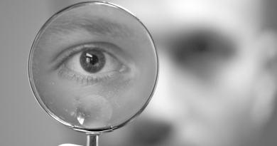 Man Magnify Eye Look Spyglass