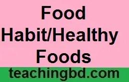 FoodHabitHealthyFoods