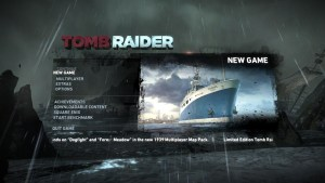 Tomb Raider Start Menu