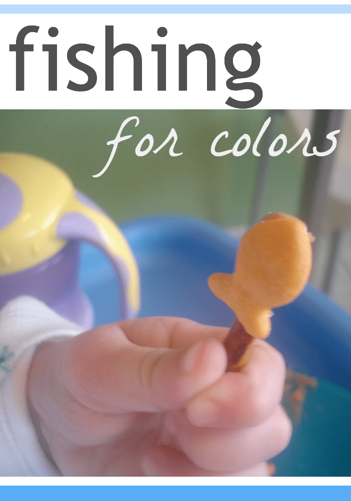 fishing for colors | teach children colors with fun hands-on snacks