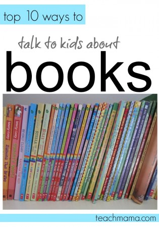 talk to kids about books