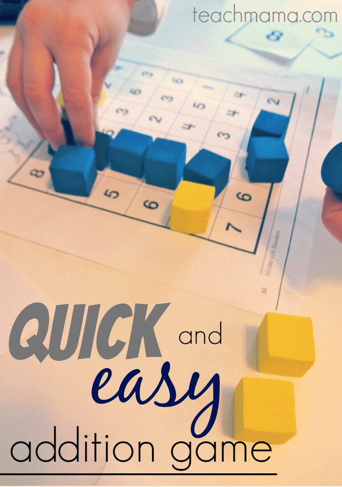 quick and easy addition game |  teachmama.com