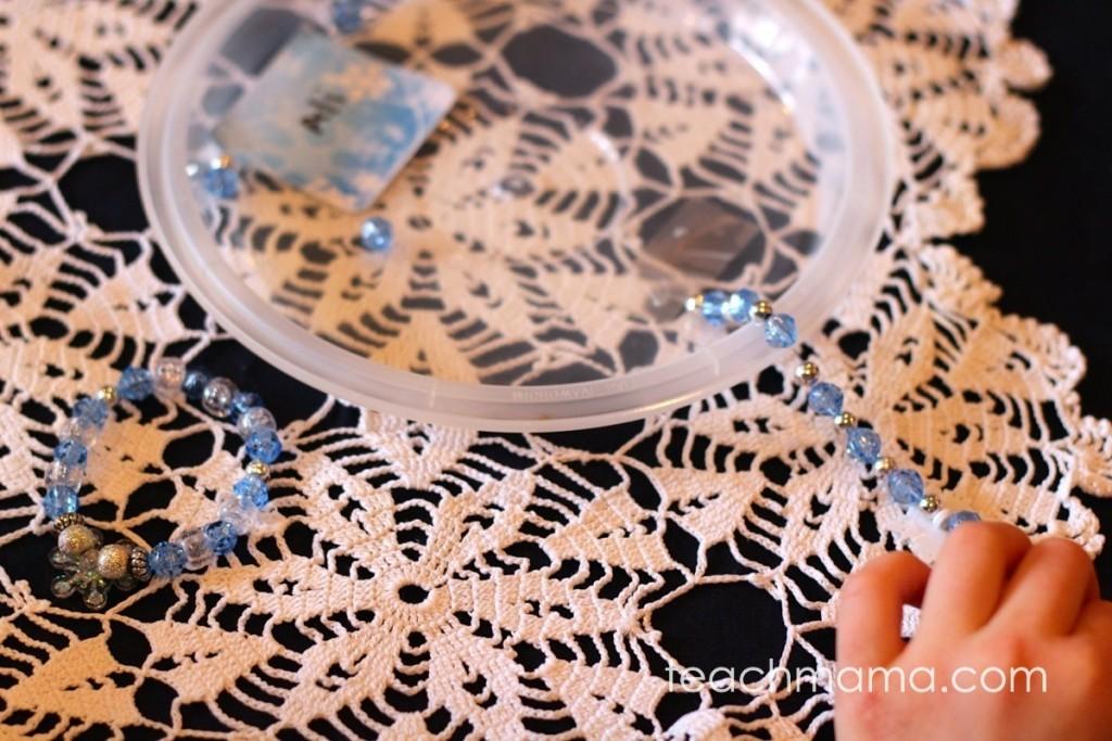 frozen sparkle beaded bracelets