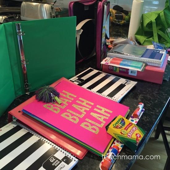 school supply shopping  teachmama.com 2
