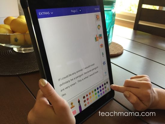 creative writing and book creation app for kids