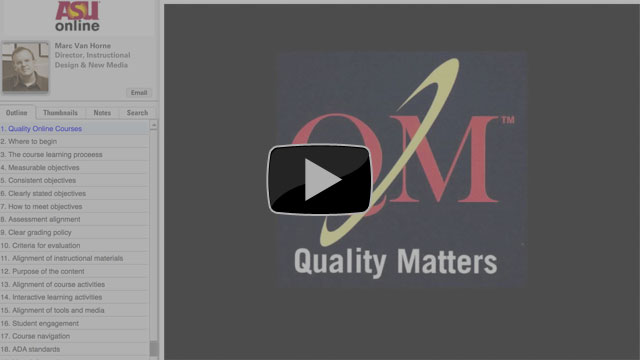 What Does a Quality Online Course Look Like?