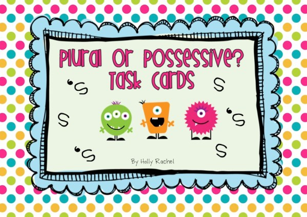 plural or possessive task cards