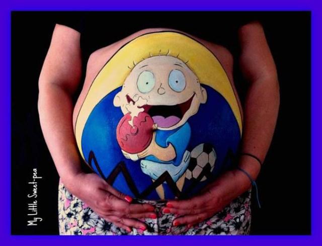 Beautiful-Baby-Bump-Paintings-4