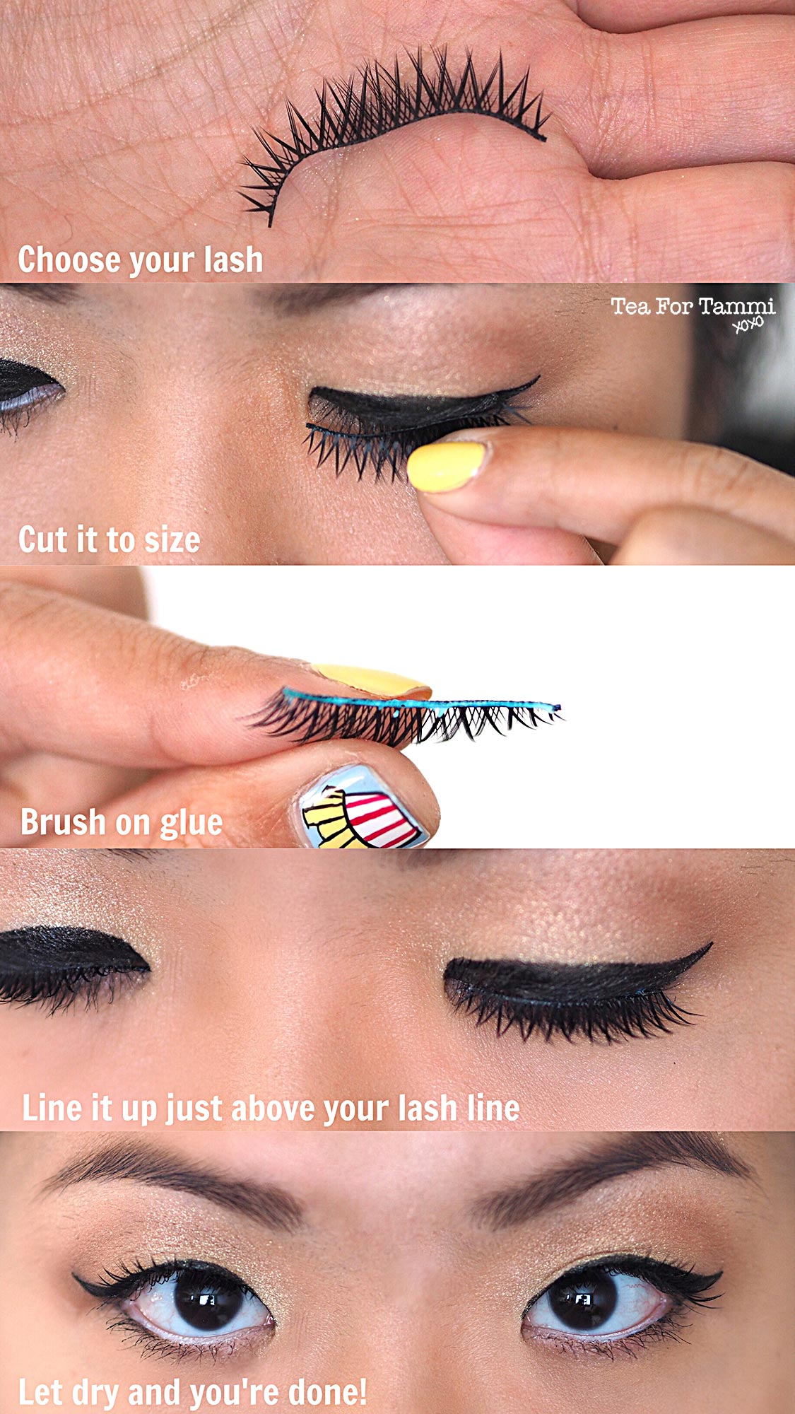 How To Apply Fake Eyelashes In 5 Easy Steps Tea For Tammi