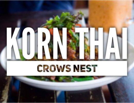 Sydney Food Blog Review of Korn Thai, Crows Nest