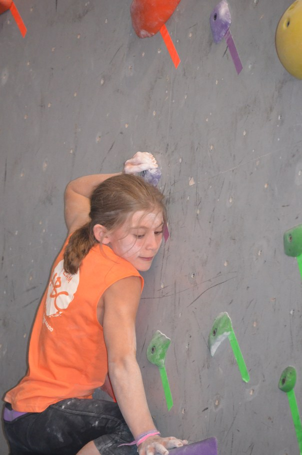 Bella working hard on the slab - ABC Classic 2013