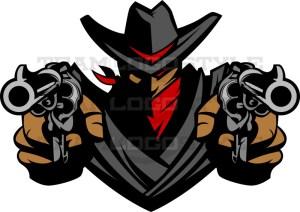 Outlaw Logo - Vector Mascot Clipart