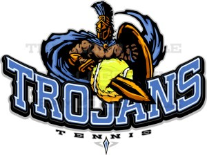 Trojans Tennis Logo