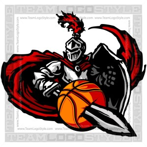 Knight Basketball Graphic -Vector Clipart Design