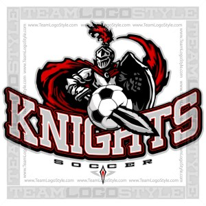 Knights Soccer Logo - Clipart Image
