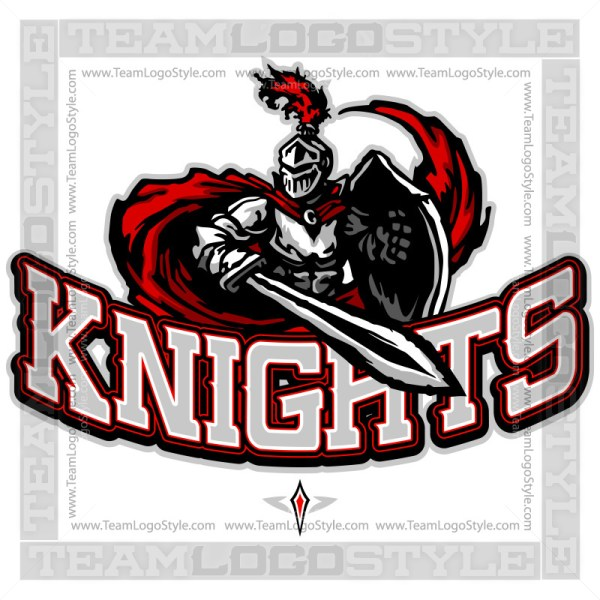 Knights Team Logo - Vector Clipart image