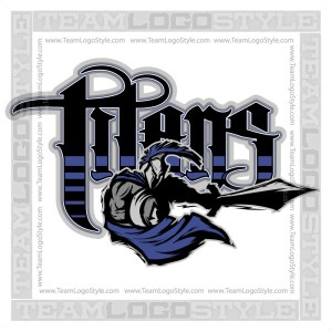 Titans Team Logo - Vector Clipart Image