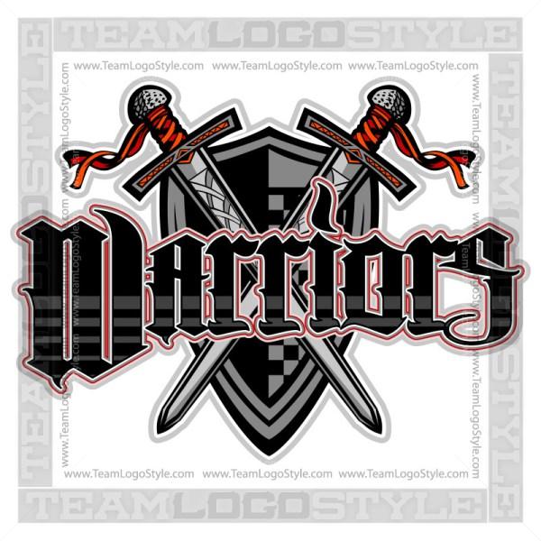 Warriors Team Logo - Vector Clipart Image