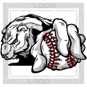 Baseball Polar Bear Design Cartoon Clipart