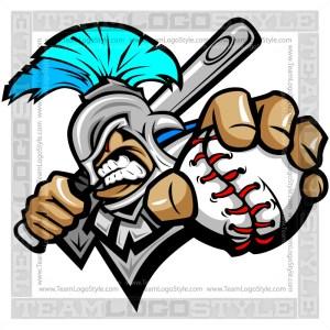 Titan Baseball Logo - Vector Clipart Image