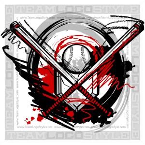Softball Logo - Vector Clipart Image