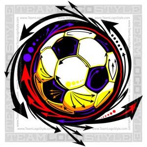 Soccer Logo - Vector Clipart Image