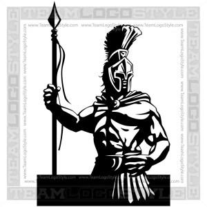 Spartan Mascot Logo - Vector Clipart Graphic