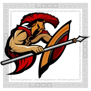Trojan Clipart - Vector Mascot Graphic