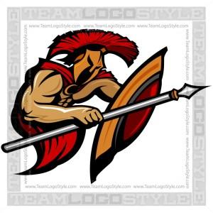 Trojan Clipart - Vector Mascot Graphic
