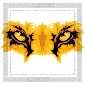 Vector Lion Eyes Clipart Graphic