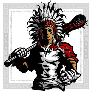 Chief Lacrosse Silhouette - Vector Sports Clipart