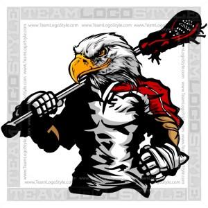 Eagle Lacrosse Silhouette Vector Clipart Image