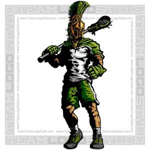 Trojan Lacrosse Silhouette Vector Clipart Graphic