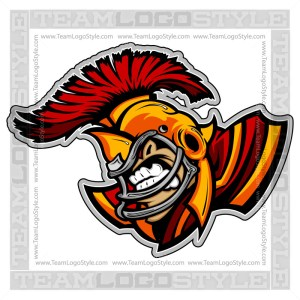Trojan Football Cartoon - Vector Clipart Image