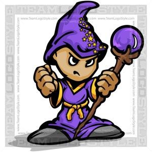 Wizard Cartoon - Vector Clipart Graphic