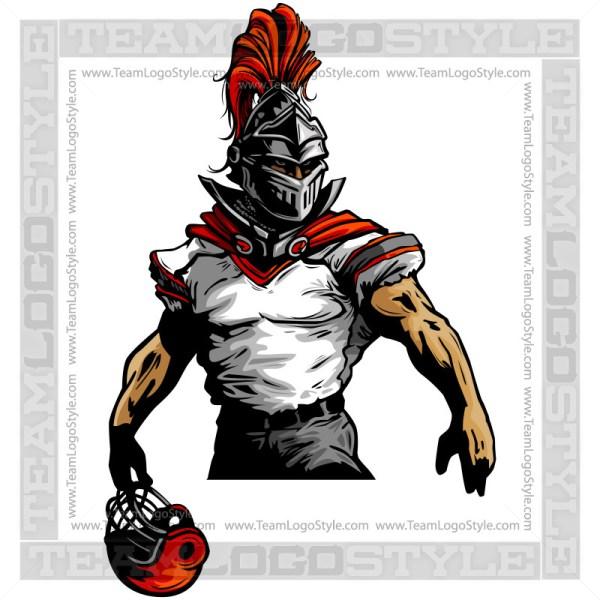 Knight Football Clipart Vector Mascot Image